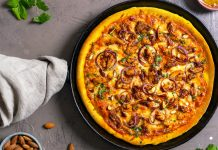 butter chicken pizza